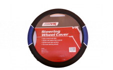 Image for BLACK/BLUE VENTED GRIP STEERING WHEEL COVER