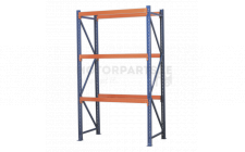 Image for Heavy-Duty Shelving Unit with 3 Beam Sets 900kg Cap/Level