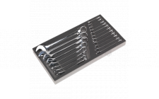 Image for Tool Tray with Combination Spanner Set 19pc - Metric