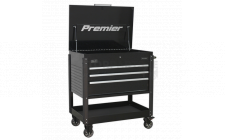 Image for Tool Trolley 3 Drawer Heavy-Duty - Black