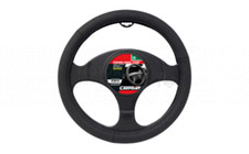 Image for STEERING WHEEL COVER - MATT BLACK