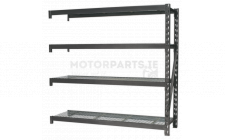 Image for Heavy-Duty Racking Extension Pack with 4 Mesh Shelves 800kg