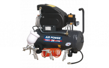 Image for Compressor 24ltr Direct Drive 2hp with 4pc Air Accessory Kit