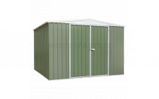 Image for Galvanized Steel Shed Green 3 x 3 x 2mtr