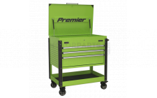 Image for Tool Trolley 3 Drawer Heavy-Duty - Hi-Vis Green