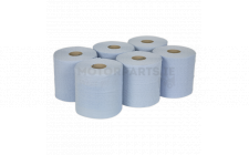 Image for Paper Roll Blue 2-Ply Embossed 150mtr Pack of 6
