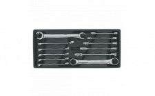 Image for Tool Tray with Flare Nut & Ratchet Ring Spanner Set 12pc
