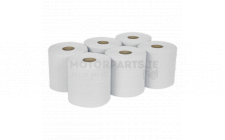 Image for Paper Roll White 2-Ply Embossed 150mtr Pack of 6