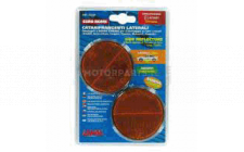 Image for AMBER ROUND REFLECTORS 1PR