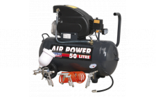 Image for Compressor 50ltr Direct Drive 2hp with 4pc Air Accessory Kit