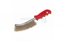 Image for Wire Brush Brassed Steel Plastic Handle
