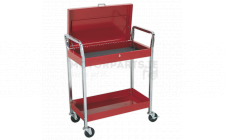 Image for Trolley 2-Level Heavy-Duty with Lockable Top