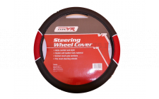 Image for BLACK/RED VENTED GRIP STEERING WHEEL COVER