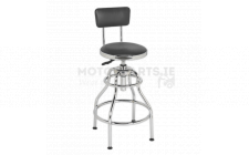 Image for Workshop Stool Pneumatic Adj Height Swivel Seat & Back Rest