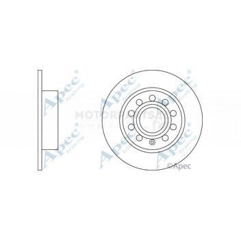 Audi A3 Rear Brake Solid Discs /& Pads 2003-1.6 1.8 1.8 1.9 2.0 TDI FSI TFSI